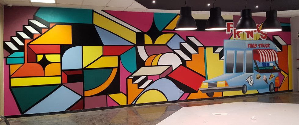 Abstract Graffiti Mural